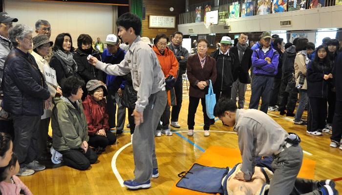 千歳市町内会連合会防災訓練を実施しました