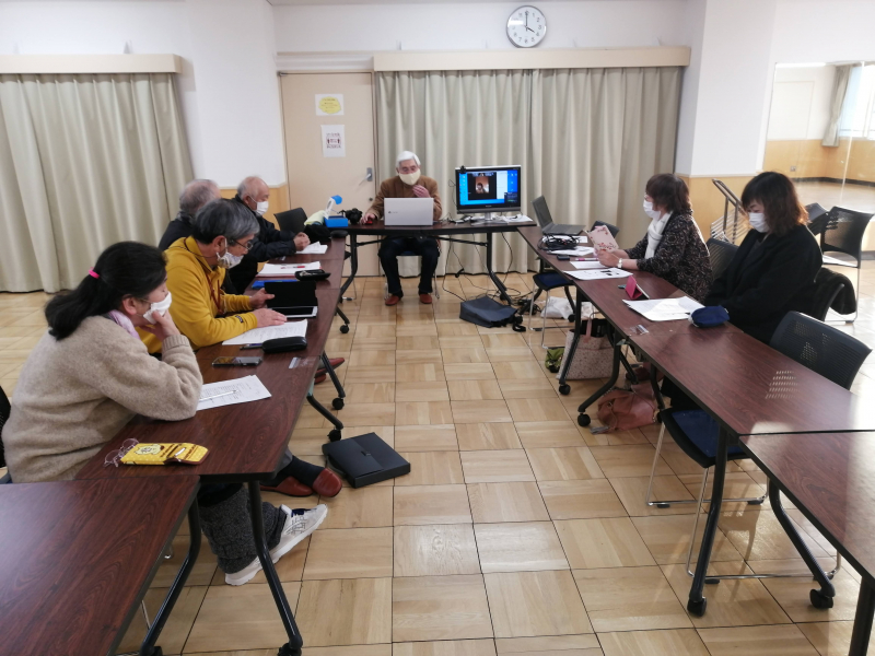 白樺町内会でオンライン会議を試行しました。(町内会活性化支援事業・モデル町内会)