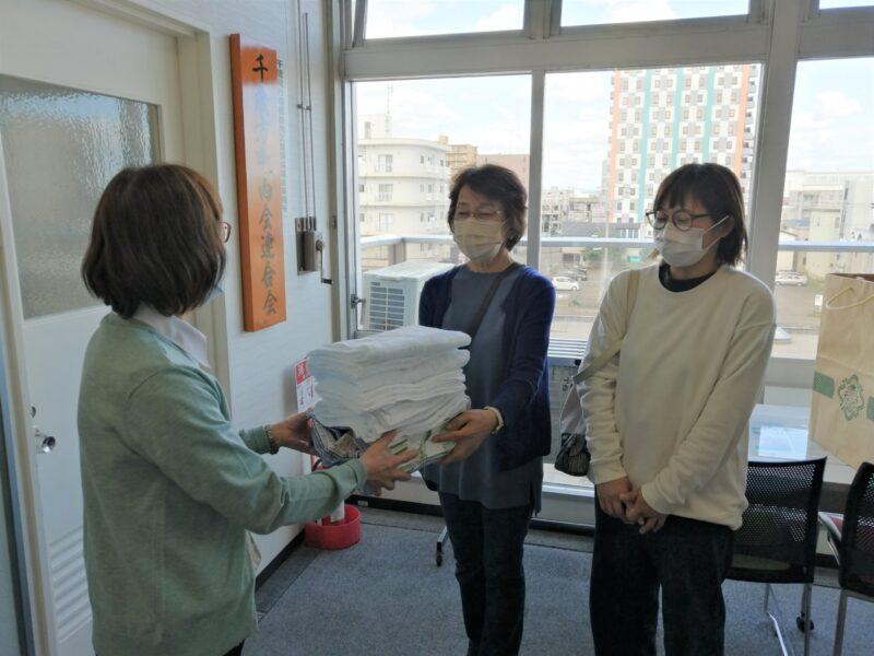 福祉施設に雑巾をお贈りする取組み(市町連女性部会)